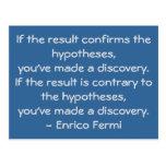 Quotable science quote by Enrico Fermi Postcard