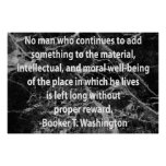 Quotation from Booker T. Washington Posters