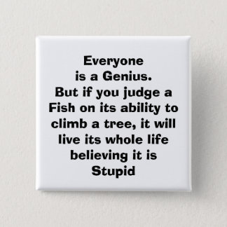 quote, 15 cm square badge