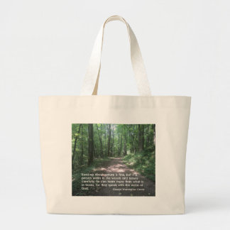 Quote about Nature by G.W. Carver Jumbo Tote Bag