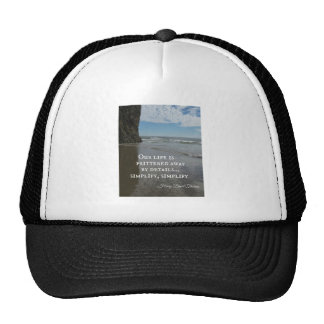 Quote about simplifing life mesh hats