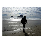 Quote about solitude by H.D. Thoreau Postcard