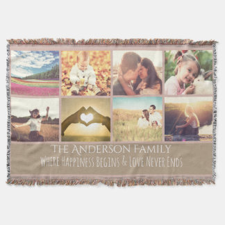 Quote and photo throw blanket
