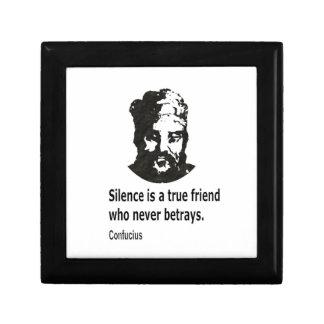 Quote By Confucius Small Square Gift Box