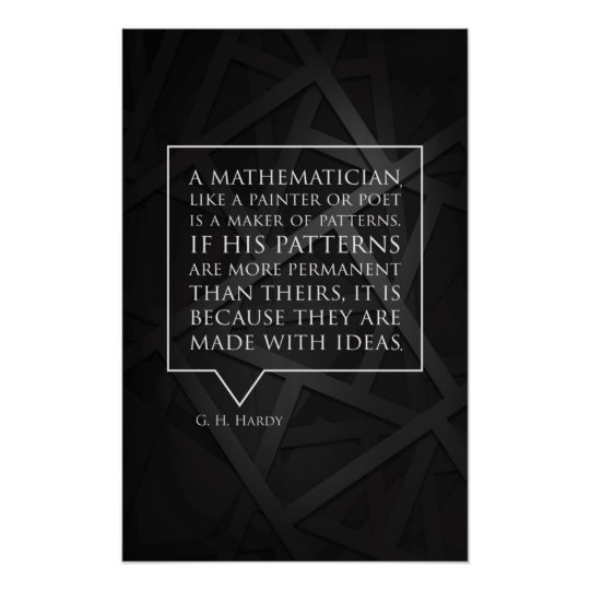 Quote by Hardy - Math Posters