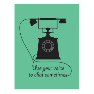 Quote design to encourage communication postcard