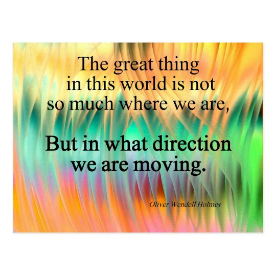 Quote : Direction Postcard