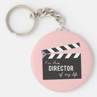 Quote, Director of my life, Action Board Basic Round Button Key Ring