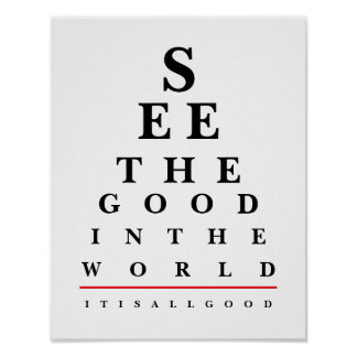 Quote Eye Chart Poster