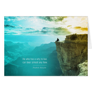 Quote Friedrich Nietzsche Nature Adventure Nature Card