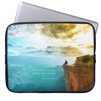Quote Friedrich Nietzsche Nature Adventure Nature Computer Sleeve
