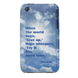 Quote hope and faith blue sky design iPhone 3 covers