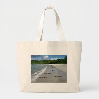 Quote: Lost time is never found again. Canvas Bags