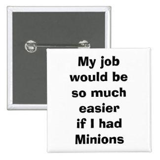 quote, minions 15 cm square badge
