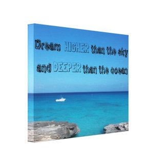 Quote ocean canvas print