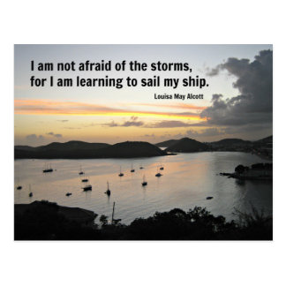 Quote of courage and strength post card