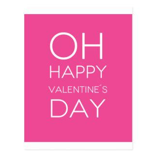 Quote: OH Happy Valentine's Day Postcard