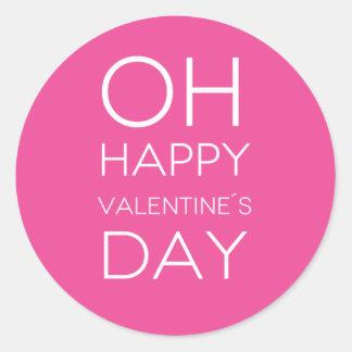 Quote: OH Happy Valentine's Day Round Sticker