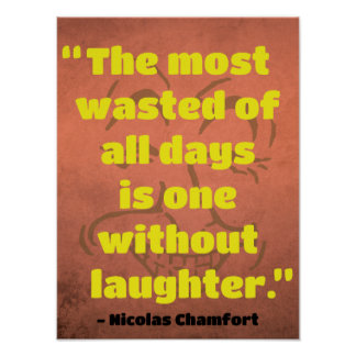 Quote on Laughter / Humor Poster