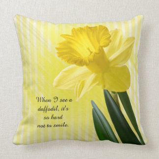 Quote on Yellow Spring Daffodil Picture Cushion