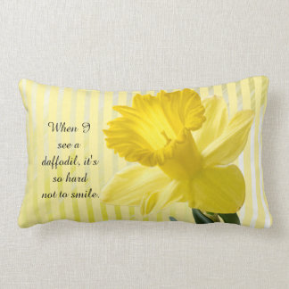Quote on Yellow Spring Daffodil Picture Lumbar Cushion