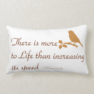 quote pillow,M Gandhi quote pillow,bird pillow