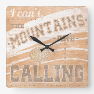 Quote | The Mountains Are Calling Clocks