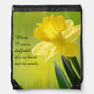 "Quote:  ""When I see a daffodil ...""  Flower Pics Rucksacks"