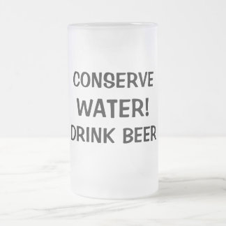 Quoted Frosted Glass Beer Mug