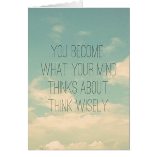 Quotes about the mind Sky and Clouds Vintage Greeting Cards