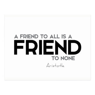 QUOTES: Aristotle: Friend to all Postcard
