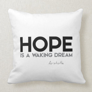 QUOTES: Aristotle: Hope Cushion