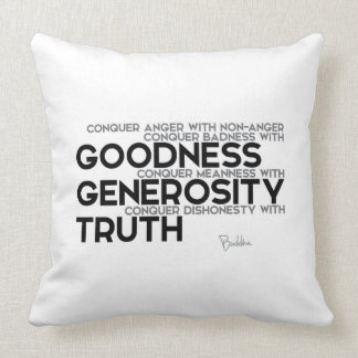 QUOTES: Buddha: Conquer Throw Pillow