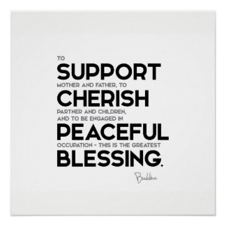 QUOTES: Buddha: Greatest blessing Poster
