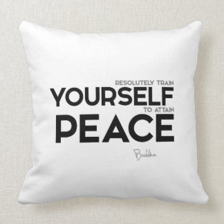 QUOTES: Buddha: Peace Throw Pillow