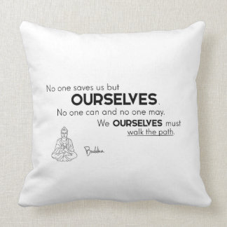 QUOTES: Buddha - Walk the path Throw Pillow