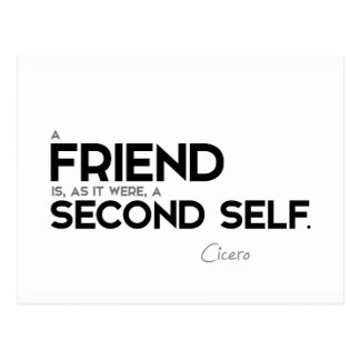 QUOTES: Cicero: A friend: second self Postcard