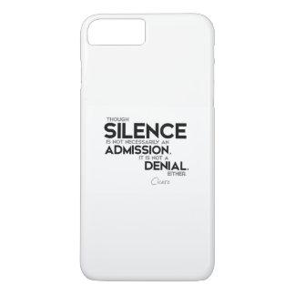 QUOTES: Cicero: Silence, admission, denial iPhone 7 Plus Case