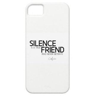 QUOTES: Confucius: Silence is a true friend Barely There iPhone 5 Case