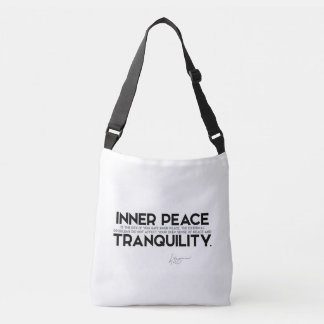 QUOTES: Dalai Lama - Inner peace is the key Crossbody Bag