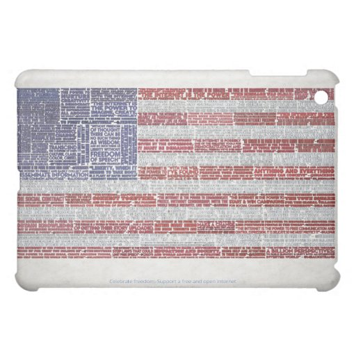 Quotes Flag for A Free and Open Internet Case For The iPad Mini