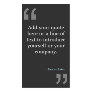 QUOTES in GRAY Designer Business Card