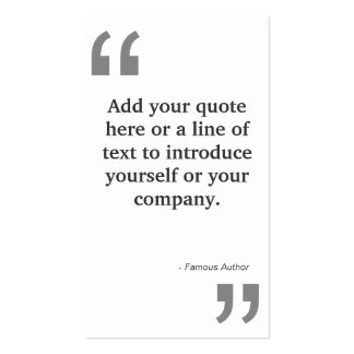QUOTES in GRAY on White Pack Of Standard Business Cards