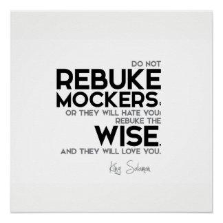 QUOTES: King Solomon: Rebuke the wise