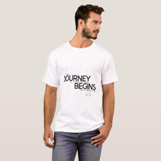 QUOTES: Lao Tzu: Journey begins T-Shirt