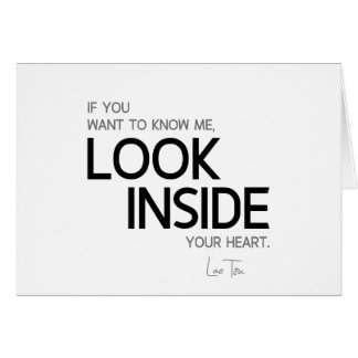 QUOTES: Lao Tzu: Look inside Card