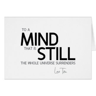 QUOTES: Lao Tzu: Still mind Card