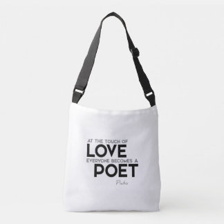 QUOTES: Plato: Touch of love: poet Crossbody Bag
