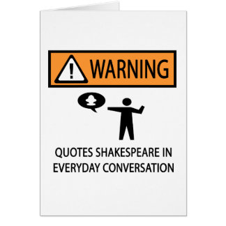 Quotes Shakespeare Card