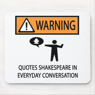 Quotes Shakespeare Mouse Mat